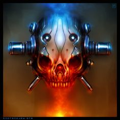 Cyber Skull by ~noistromo on deviantART