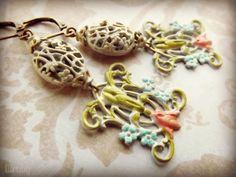 group earring, paint filigre, earring challeng, filigre earring
