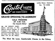 京華戲院 Capitol Theatre > English Newspapar on Capitol Theatre Grand Opening, via Flickr.