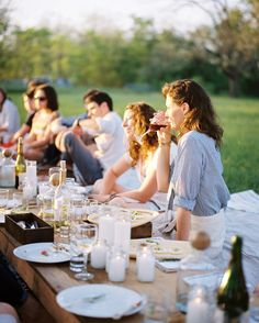 eat outdoors - low table