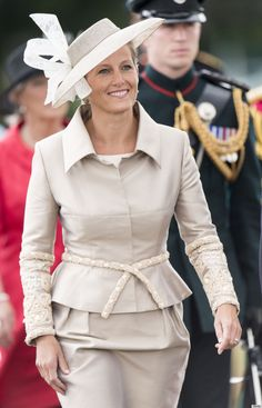 The Countess of Wessex at the Sovereign's Parade at Sandhurst, 9 August 2013.