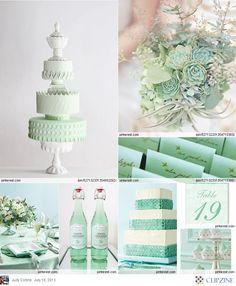 pastel green wedding, mint and salmon wedding, accent colors, mint green weddings, wedding ideas mint green