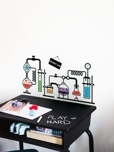 Secret Lab - a wall sticker by Vinylize Wall Deco