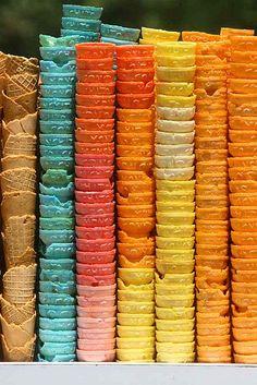 Mexico: Colorful Ice Cream Cones, Mexico City