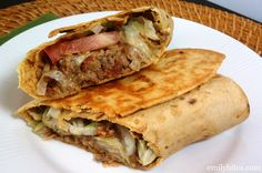 Emily Bites - Weight Watchers Friendly Recipes: Bacon Cheeseburger Wraps 8 WW points