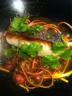 Black Cod, Ponzu Noodles, Chinese Sausage, Brussels Sprouts, Ginger ...