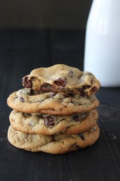 Ultimate Chocolate Chip Cookies are big, thick, chewy, soft in the middle, crisp at the edges, and chock full of chocolate chips