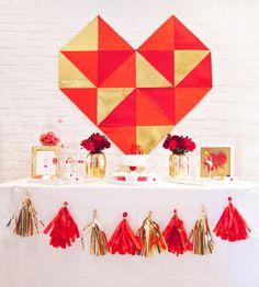 Decor at a Valentine's Party #valentine #partydecor