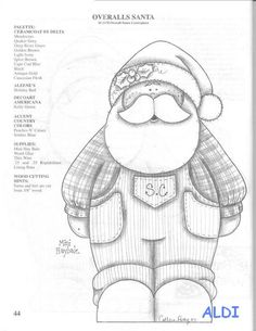 Papai Noel de macacão
