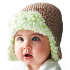 Learn how to knit a baby hat and get to work on the Happy Lined Trapper Hat for the baby in your life.