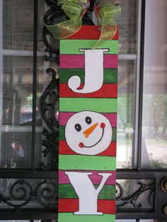 JOY  Whismical Colors Christmas Wood Sign by TallahatchieDesigns, $40.00