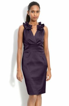 Donna Ricco Pleat Trim Mock Two Piece Sheath Dress available at #Nordstrom