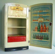 Vintage tin fridge 1950's