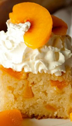 Peach Cobbler Snack Cake Recipe ~ Traditional Peach Cobbler turned into a super moist Snack Cake