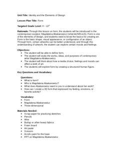 Art principle of form / Magdalena Abakanowicz - Rachel Stricklin - TeachersPayTeachers.com