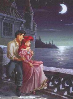 disney movies, disney style, mermaid art, ariel, disney princesses