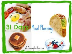 meal planning 31 Days: Meal Planning