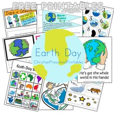 Free Earth Day Printables from Christian Preschool Printables.  Lots of Creation and Bible themed resources too!