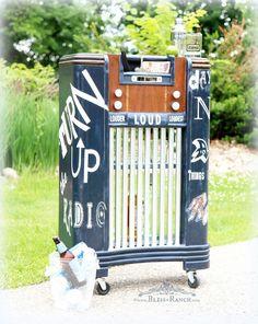 radio bar, cabinet bar, vintag radio, radio cabinet