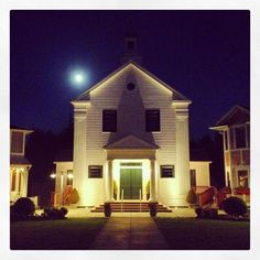 Seabrook, WA Town Hall, a perfect spot for a wedding, corporate retreat, family reunion, movie, or small performance.
