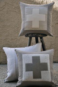 cross cushions ✚