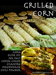 Mexican Grilled Corn from FreshBitesDaily.com