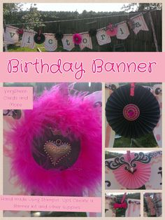 A banner I made using the Stampin Up Create a Banner kit