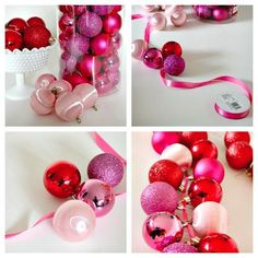 Easy Ornament Garland, super cute for our upstairs bridge