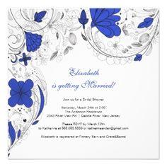 cobalt blue butterfly wedding invitation designs