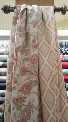 Sarah Richardson fabrics for Kravet on display here at Karen's Fabrics at great prices!
