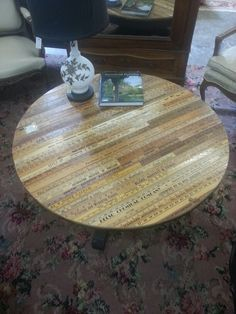 Recycled rulers turned into table