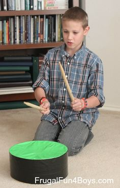 Duct Tape Practice Drum - homemade musical instrument