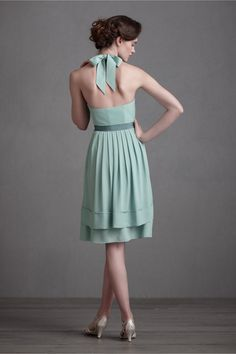 Lovely aqua bridesmaid's dress