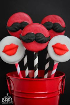 I {Mustache} You To Be My Valentine… Oreo Pops