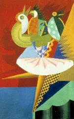 Rotazione di ballerina e pappagalli (Fortunato Depero,1917-18, MART, Rovereto)