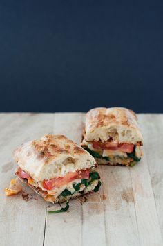 Sautéed Spinach and Turkey Sandwich