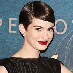 "In addition to its amazing ""blow-dry-and-go"" ability, another perk to a short crop like Anne Hathaway's is the many versatile styles you can pull off just by switching up the texture. http://celebrityphotos.instyle.com/dailybeautytip/photos/results.html?No=0"