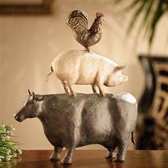 SPI Home - American Folk Art Trio - Chicken, Pig, Cow