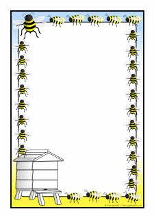 Bee-themed A4 page borders (SB4606) - SparkleBox