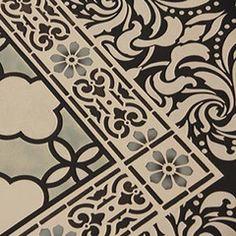 3rd stencil for floorcloth.