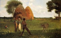 """Weaning the Calf""  Winslow Homer"