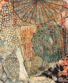 Eva Isaksen: Stir II 2008 collage on paper 24 x 18 in.