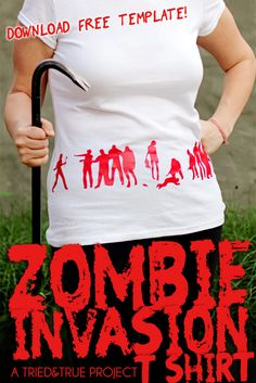 #TvsZ - we need these #Zombie Invasion Tee - Free Zombie Template