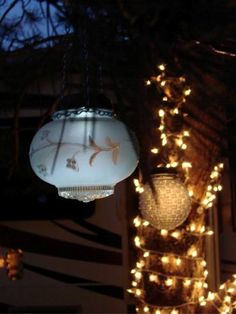 Sensational recycled solar lights in the garden-Sparkle in the dark