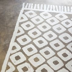 concrete floor rug