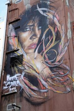 """""""Street artists Adnate and Shida recently collaborated on this stunning, large scale mural in Melbourne."""""""