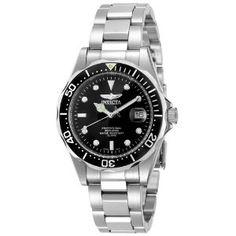Invicta Men's Pro Diver Collection Silver-Tone Watch. Sick style!!
