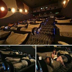 Cool movie theater! Soft comfortable plush seats!