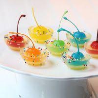 rainbow cherry jigglers cherri, jello shots, non alcoholic, jello shot recipes, food, drink, rainbow, jelly shots, parti