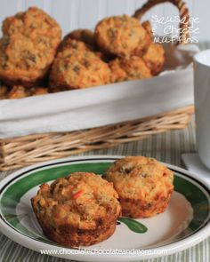 Sausage Cheese Muffins-a tasty savory muffin for a quick, on the go, breakfast!